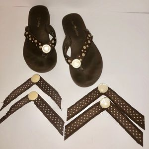 Brown Lindsay Phillips Switchflops & Extra Straps